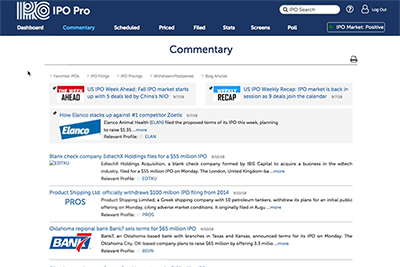 IPO Pro commentary page.