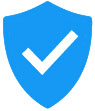 Shield with checkmark icon.