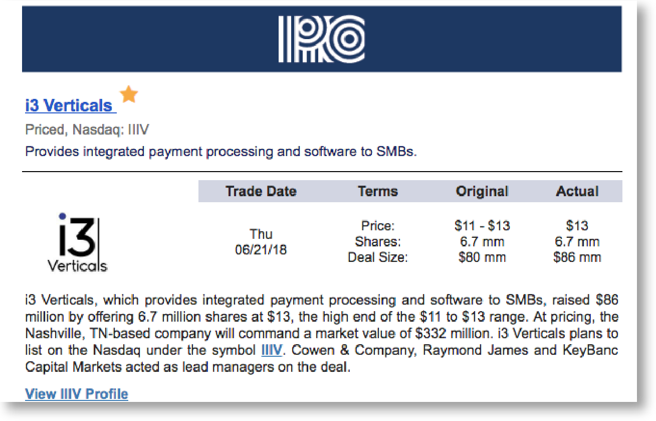 IPO Pro profile snippet.